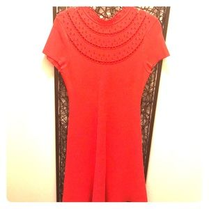 Eliza J Cut Out Fit and Flare Dress